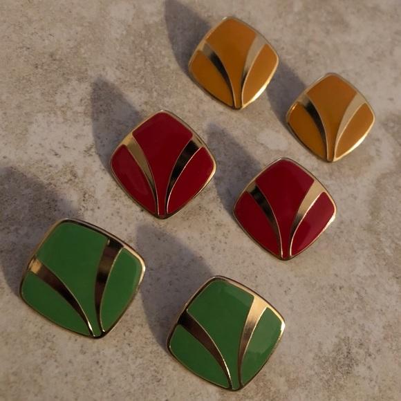 vintage earrings - 3 pairs